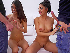 Carolina and Julia join a couple of guys for a nice fuck
