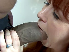 Trinity Post is a hot redhead who cannot resist a big black dick